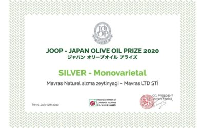 We Won The Silver Medal At The Japan Olive Oil Prize 2020!