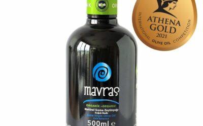 Athena International Olive Oil Competition'da Organik Zeytinyağımız ile Altın Madalya kazandık