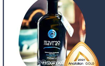 Mavras, Türkiye'nin ilk uluslararası zeytinyağı kalite yarışması Anatolian IOOC 2021'de 3 madalya kazandı