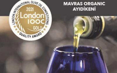 Organik Ayıdikeni Zeytinyağımız London IOOC 2021'de Altın madalya kazandı